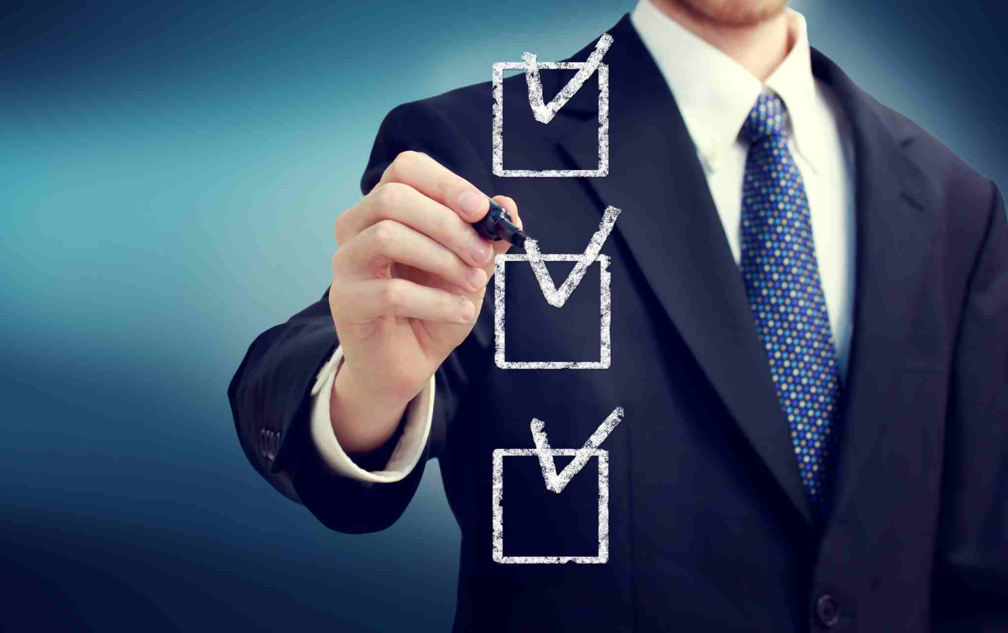 Create checklists for excellence in work