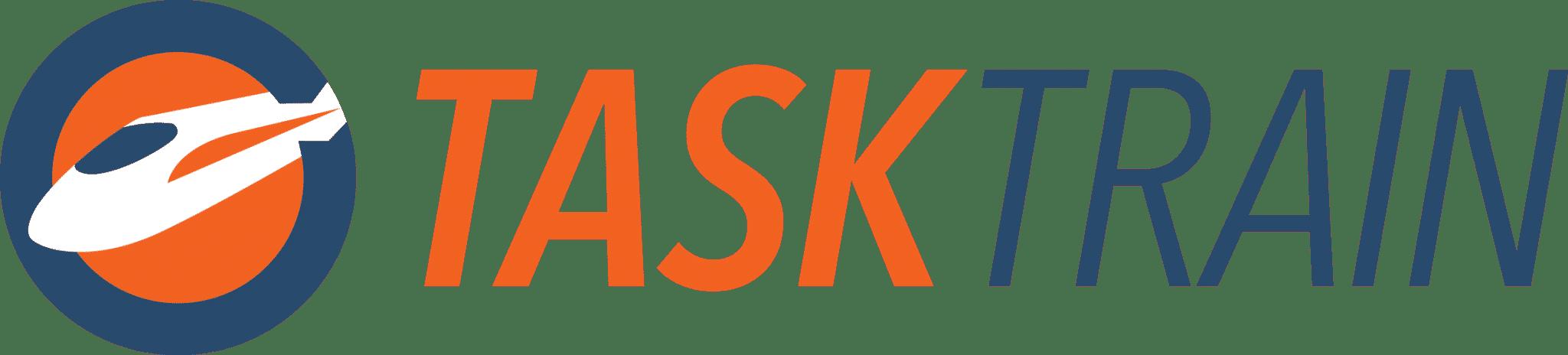 TaskTrain Logo + Wordmark